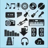 φορέα μουσικής — Διανυσματικό Αρχείο