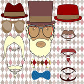 Hipster Vector — Wektor stockowy