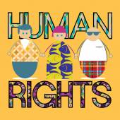 Human rights design — Stock Vector