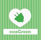 Eco diseño de iconos — Vector de stock