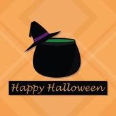 Halloween vectors over background wit textures — Stock Vector