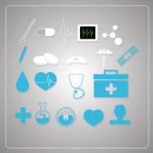 Vetores de design-medicina sobre fundo — Vetor de Stock