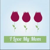 Happy Mothers day over color background — Vettoriale Stock
