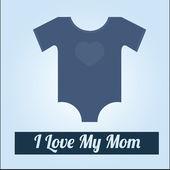 Счастливый день матери над цвет фона — Cтоковый вектор
