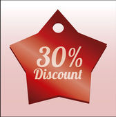 Discount illustration over color background — Vetorial Stock