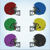 American football desing over color background — Stock Vector