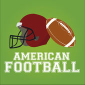 American football desing over color background — ストックベクタ
