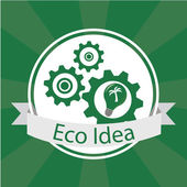 Eco Idea Design over green color background — Stockvektor
