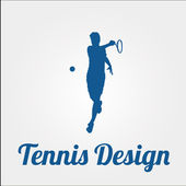 Tennis design over color background — Stock Vector