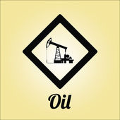 Oil or combustible illustration over color background — Stock Vector