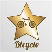 Bicycle illustration over color background — Vector de stock