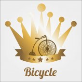Bicycle illustration over color background — Cтоковый вектор