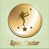 Sport design or medal illustration over color background — Stock Vector