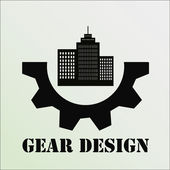 Gear design or illustration over color background — Stock Vector