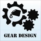 Gear design or illustration over color background — Wektor stockowy