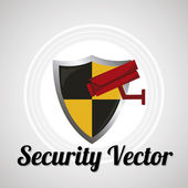 Security sistem for web or computer vector over gray color bacgr — Stok Vektör