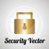 Sistem di sicurezza per web o computer vettore sopra colore grigio bacgr — Vettoriale Stock