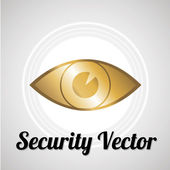 Eye security system for web or computer vector over gray color b — Stock Vector