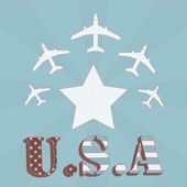 Air force one u.s.a illustration over color background — Stockvektor
