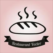 Restaurant Illustration over color background — Vecteur