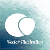 Snack illustration over blue color background — Stock Vector