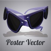 Sun glasses illustration over color background — Wektor stockowy