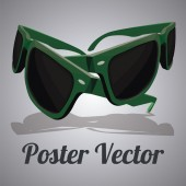 Sun glasses illustration over color background — Stock Vector