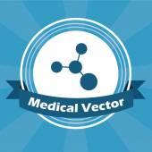 Medical illustration over blue color background — Wektor stockowy