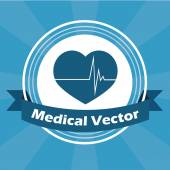 Medical illustration over blue color background — Stockvektor