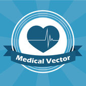 Medical illustration over blue color background — Vector de stock