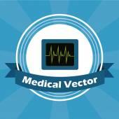 Medical illustration over blue color background — Stok Vektör