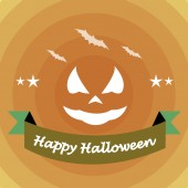 Happy halloween illustrator over color background — Cтоковый вектор