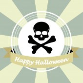 Happy halloween illustrator over color background — Vettoriale Stock