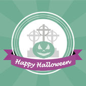 Happy halloween over color background — Vettoriale Stock