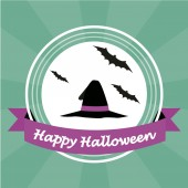 Happy halloween over color background — Stockvektor