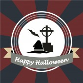 Happy halloween over color background — Cтоковый вектор