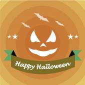 Happy halloween over color background — Stock Vector