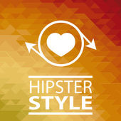 Hipster poster over orange background — Stockvektor