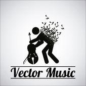 Music illustration over gray color background — Stockvector