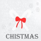 Christmas illustration over  gray color background — 图库矢量图片