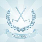 Winter sport illustration over blue color background — Stock Vector