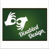 Disabled illustration over white color background — Stock Vector