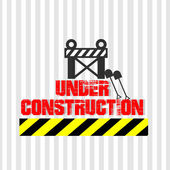 Under construction illustration over color background — Vector de stock