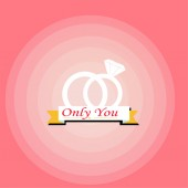 Only you love illustration over color background — Stock Vector