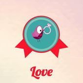 Love illustration over color background — Stockvektor