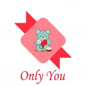 Only you Love illustration over color background — Stock vektor