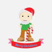 Christmas Illustration over color background — ストックベクタ