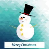 Christmas Illustration over color background — Stockvector