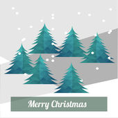 Christmas Illustration over color background — 图库矢量图片