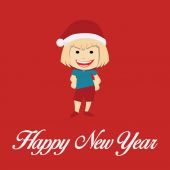 Happy New year illustration over color background — Stockvector